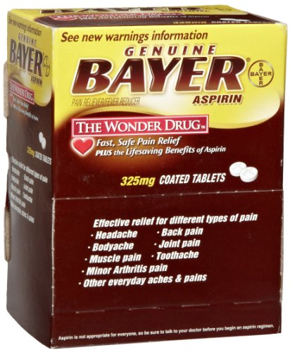 Bayer BXBG50 Aspirin Tablets, Two-Pack (Box of 50) (Bayer Crystal Aspirin compare prices)
