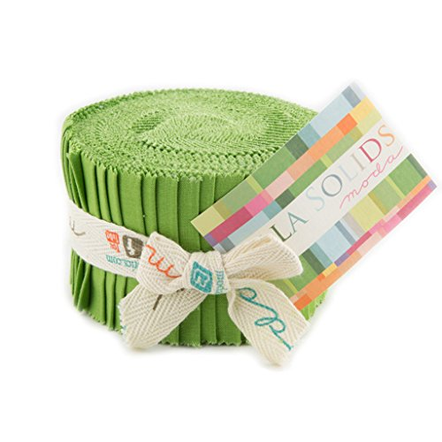 Bella Solids Fresh Grass Jr Jelly Roll (9900JJR 228) by Moda House Designer for Moda (Jelly Rolls Green compare prices)