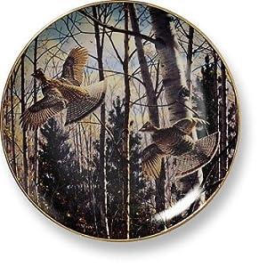 Wild Wings Gamebirds & Waterfowl Plates - Evening Flight-Grouse