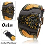 Oulm Military Mens Watch With Dual Mo...