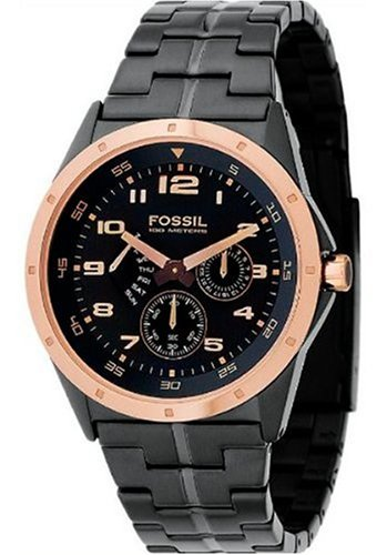 Fossil Men's Multi-Function Black Dial Watch #BQ9348