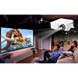 LED Projector Cinema VGA USB SD AV HDMI Input White by WMicro