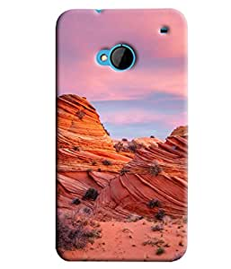 Blue Throat Old Mountains Of America Hard Plastic Printed Back Cover/Case For HTC One M7