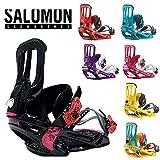 SALOMON ビンディング 《RHYTHM》[ユニセックス]サロモン リズム スノボ snowboard 板 メンズ レディース バインディング (BK/PINK, M size(25-27.5cm))