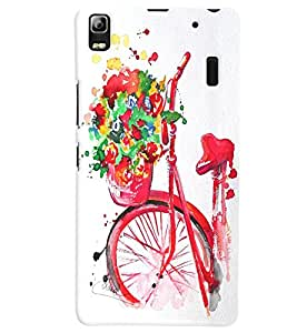 Citydreamz Bicycle Abstract Design Hard Polycarbonate Designer Back Case Cover For Lenovo A7000