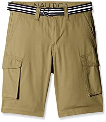 Nautica Kids Boys' Shorts (N465102Q396_Moss_04)