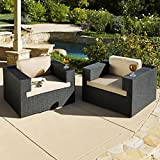 Fancy Outdoor Patio Furniture Set Of Large Size Deep Seating Wicker Chairs
