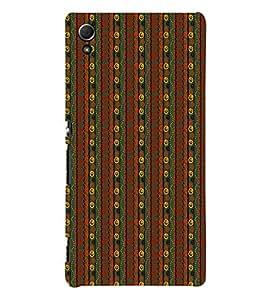 Stripe Pattern 3D Hard Polycarbonate Designer Back Case Cover for Sony Xperia Z4
