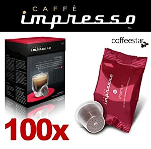 Purchase 100 x Caffè Impresso Nespresso Compatible Coffee Capsules / Pods Intenso Blend - Caffè Impresso