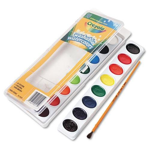 Crayola 530555 Washable Watercolor Paint, 16 Assorted Colors