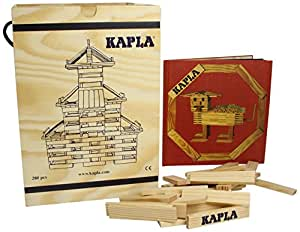 KAPLA 280 Piece Block Set With Red Advanced Animals And Architecture Book