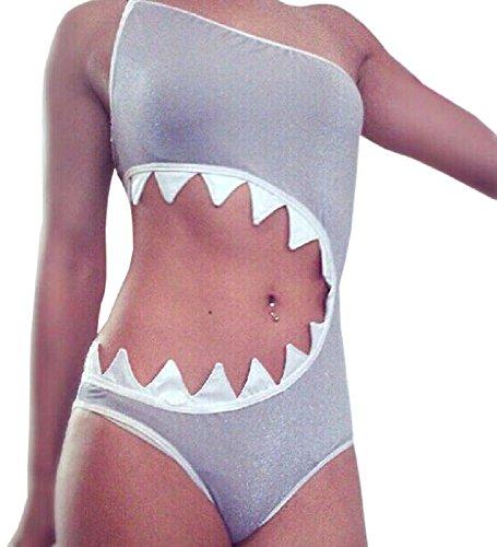 MOACC Women's One Piece Shark's mouth Swimsuit Bikini Beachwear Tankini