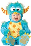 Lil Characters Unisex-baby Infant Monster Costume, Blue/Yellow/Orange, Large (18-24m)
