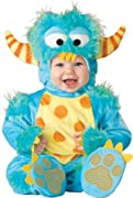 Lil Characters Unisex-baby Infant Monster Costume, Blue/Yellow/Orange, Medium (12-18m)