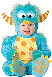 InCharacter Unisex-baby Newborn Monster Costume, Blue/Yellow/Orange, Small