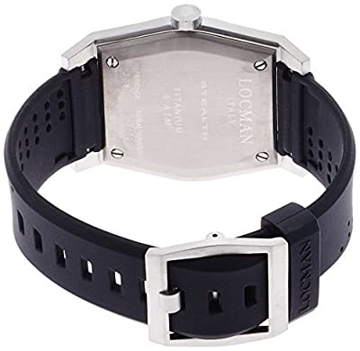 LOCMAN watch stealth Taki metric quartz Men's 0208 020800ABKWHYSIK Men