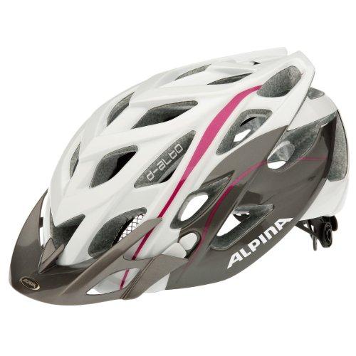 Alpina, Casco da ciclismo D-Alto, Bianco (White/Titanium/Purple), 52 - 57 cm