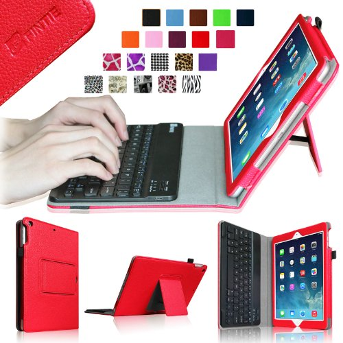 Fintie Ipad Air Keyboard Case - Ultra Thin Folio Key Removable Bluetooth Keyboard Case Cover For Ipad Air 5 (5Th Generation) - Red