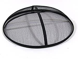 Sunnydaze Fire Pit Spark Screen, Steel, 30