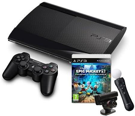 PlayStation 3 - Console 12 GB [M Chassis] con Epic Mickey 2 e Sensore Move [Bundle]