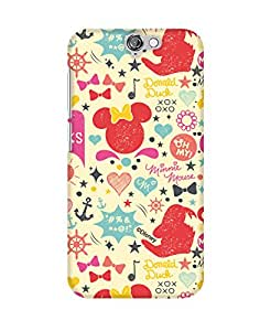 Pick Pattern with Exclusive DISNEY Characters Back Cover for HTC One A9
