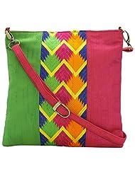 Stylocus - Ladies Sling Bag-Thread Embroidery Bags-Multi Color Handbag