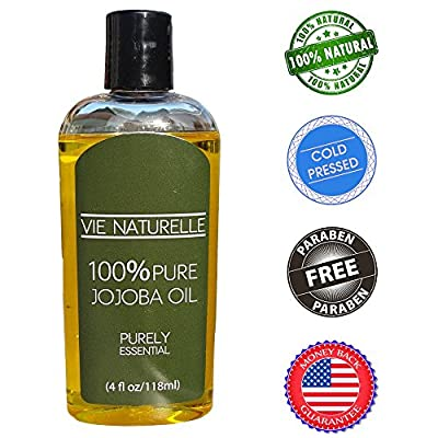 Jojoba Oil for Hair and Skin - 100 Percent Pure Cold Pressed Oil - No Fillers, Dyes or Artificial Ingredients of Any Kind - Made in the USA