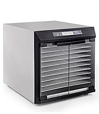 Excalibur Dehydrator EXC10EL 10-Tray Glass Doors, Stainless Steel with Stainless Steel Trays from Excalibur Dehydrators