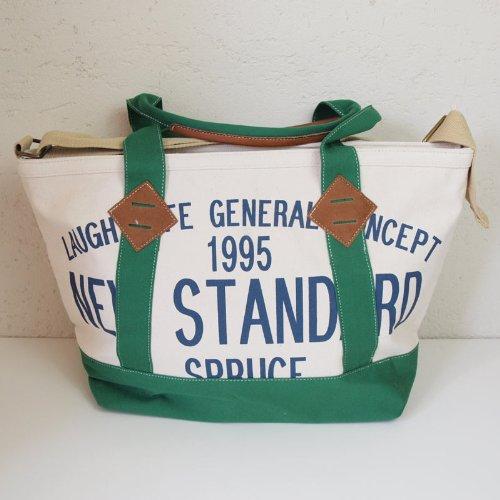 Amazon.co.jp: NEW STANDARD ロゴ キャンバス 2way bag / グリーン: シューズ&バッグ:通販