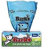 Dog Waste Poop Bags, 300 Count Blue, by Bark+