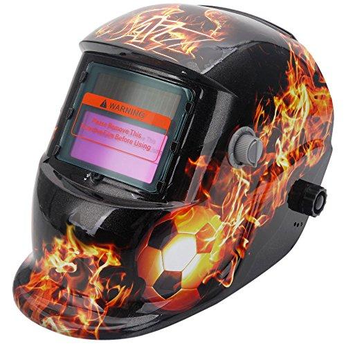 Olymstore-Solar-Powered-Welder-Welding-Helmet-Auto-Darkening-with-Adjustable-Shade-Range-Football-Fire-Pattern-Black-Yellow