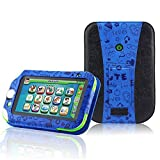 LeapFrog LeapPad Ultra XDi Learning Tablet Case - ACcover leappad Ultra XDI case - Kid-Friendly Leather Stand Case Multi Function Cover for LeapFrog LeapPad Ultra XDI Kids (2014) Tablet / LeapPad Ultra Tablet(2013)-Dark Blue Pattern