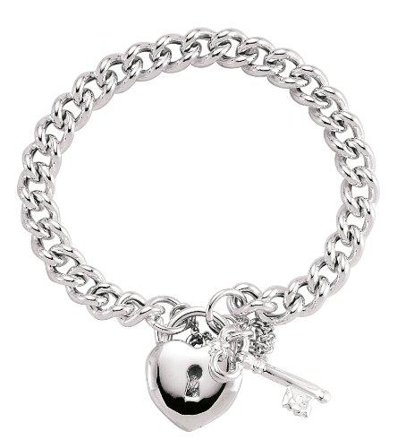 Jewelco London Silver - anti-tarnish Plated - - - Bracelet -