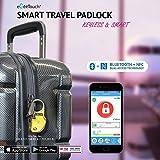 eGeeTouch® NFC Gepäckschloss, GT1000-99 (schwarz), mit patentierter dualer Zugriffstechnologie (NFC + Bluetooth), Entfernungswarnung usw.
