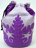 Hawaiian quilt ハワイアンキルト 「 フラポーチ シダリーフ&パンの木柄 カラー7色」 / - ブラウン