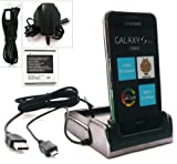 FLASH SUPERSTORE ULTIMATE POWER PACK FOR SAMSUNG I9001 GALAXY S PLUS INCLUDES COMPATIBLE CHROME TWIN DESKTOP DOCKING STATION CRADLE CHARGER ( HANDSET AND SPARE BATTERY CAN BE CHARGED AT THE SAME TIME ) + ORIGINAL MICRO USB 3 PIN MAINS CHARGER + ORIGINAL