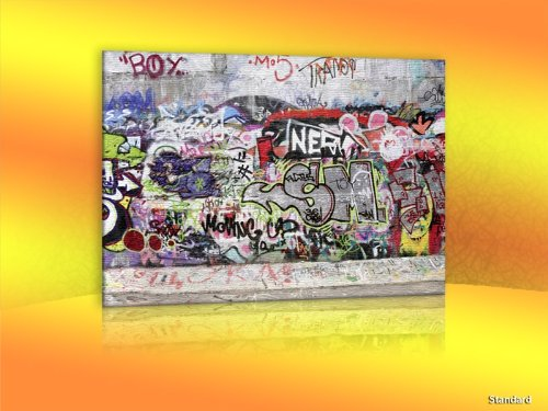 Leinwandbild Leinwandbild Grafitti Nr. LW70 - Wandbild Keilrahmenbild Leinwand Größe: 60 x 50 cm (BxH)