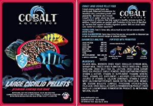 Cobalt 30-Pound Cichlid Fish Food Pellets, Large