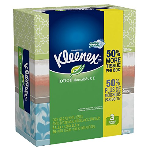Kleenex Lotion Facial Tissues (12 Boxes of 3)