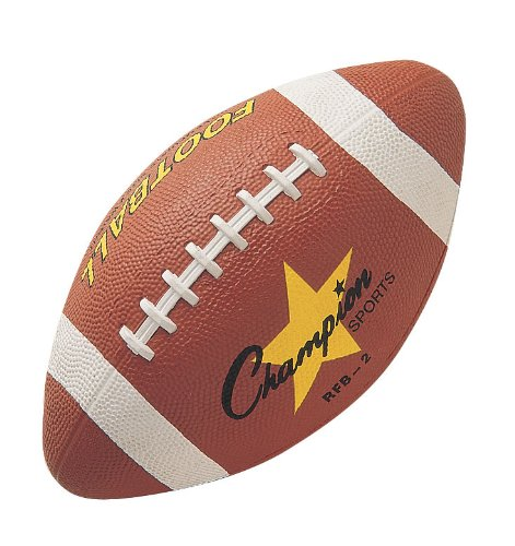 Champion Sports Intermediate Size Rubber Football