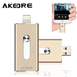I-flash Drive ,AKEDRE® [IOS9 Compatible] 16GB Full Capacity Disk HD U-dick, OTG USB Flash Drive For Apple IPhones, IPads, IPod Mac& Computers
