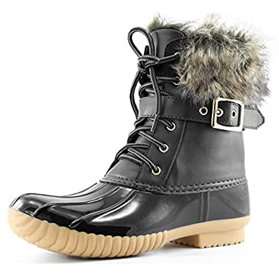 Women's DailyShoes Snow Booties Up Ankle Buckle Duck