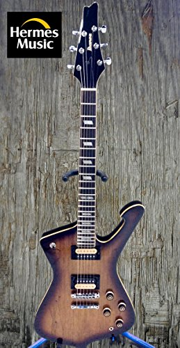 Ibanez Iceman IC520SM-VBS Spalted Maple Vintage Brown Sunburst Guitar-Hermes Unique!