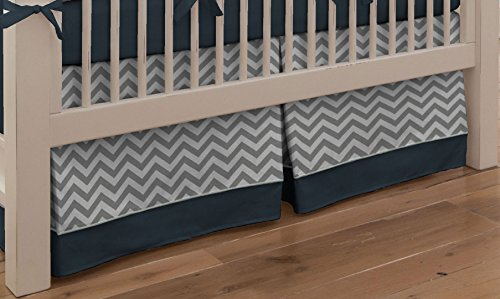 Navy And White Crib Bedding 3840 front
