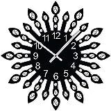 #8: Studio Shubham jewel leaf round handmade wall clock (29cm x 29cm x 5cm)