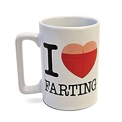 Big Mouth Toys - Talking Mug - I Love Farting