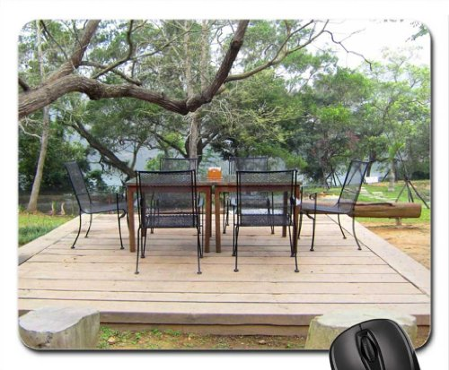 Outdoor Coffee Shop Mouse Pad, Mousepad (Greenroofs Mouse Pad)