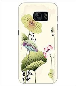 PrintDhaba Floral Design D-2026 Back Case Cover for SAMSUNG GALAXY S7 (Multi-Coloured)