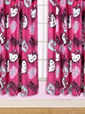 Character World 54-inch Hello Kitty Ink Curtains