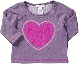 Design History Little Girls39 French Terry Top ToddlerKid - Playful Purple